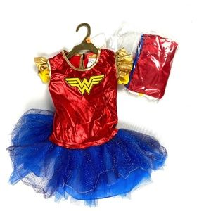 NEW Rubie's Wonder Woman Costume Dress  Metallic